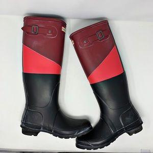 Hunter Tall Wellington Rain Boots Size 8